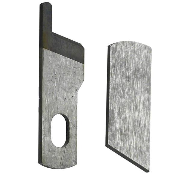 Upper and Lower Knife Set, White
