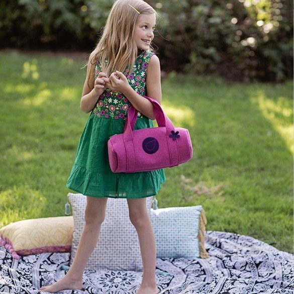 BlueFig Class 300 Li'l Duffle Pattern - Bubble Gum Pink