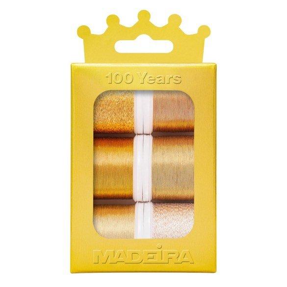 Madeira Anniversary Crown Thread Box (6pk) - Metallic