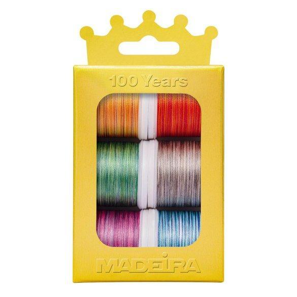 Madeira Anniversary Crown Thread Box (6pk) - Polyneon Variegated