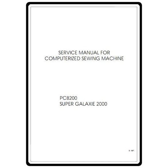 Service Manual, Brother PC8200