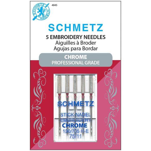 Chrome Embroidery Needles, Schmetz (5pk)