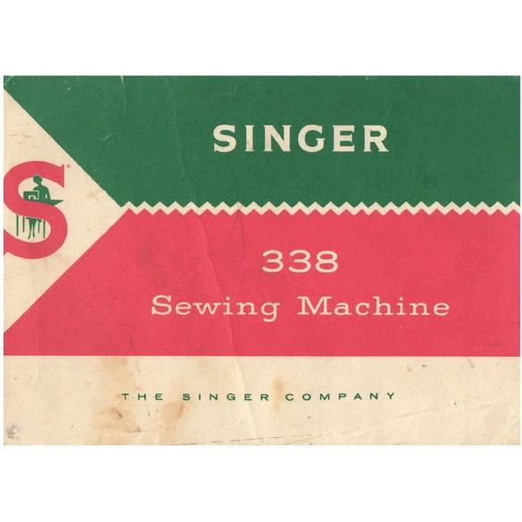 Instruction Manual, Singer 338