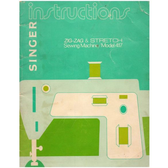 Instruction Manual, Singer 417