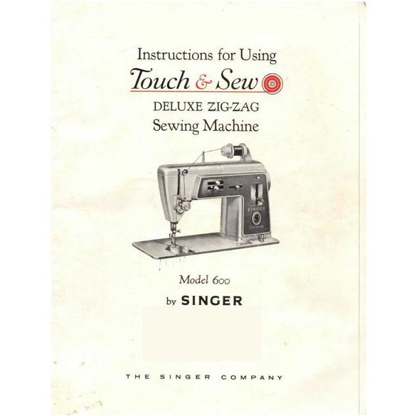 Instruction Manual, Singer 600