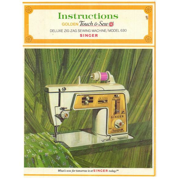 Instruction Manual, Singer 630 Touch & Sew