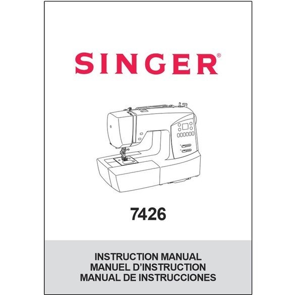 Instruction Manual, Singer 7426