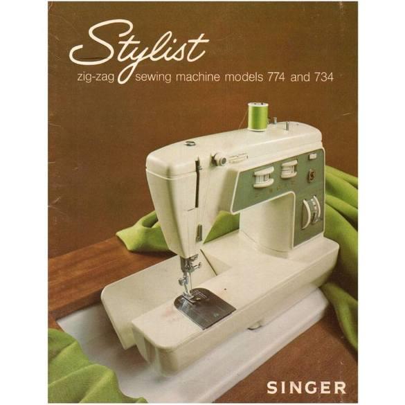 Instruction Manual, Singer 734