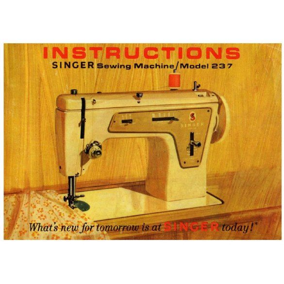 Instruction Manual, Singer 237