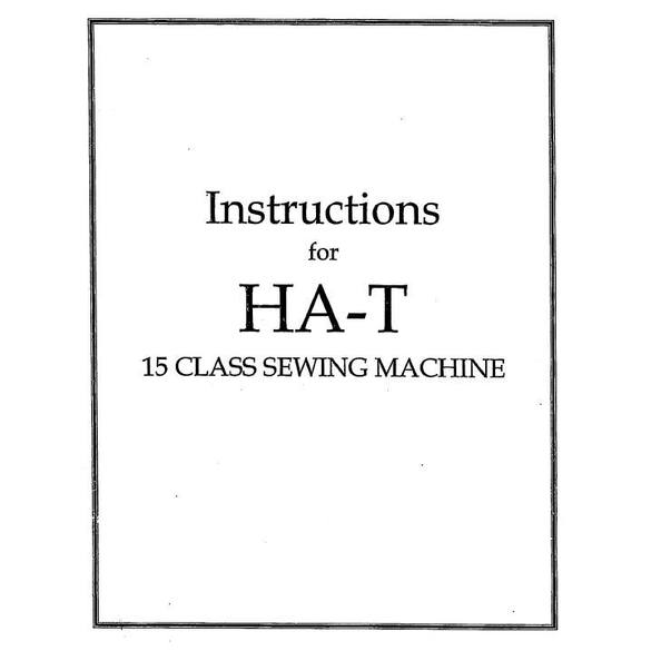Instruction Manual, Singer 1530 ORIGINAL