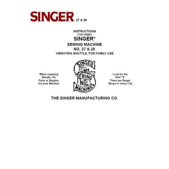 Instruction Manual, Singer 28