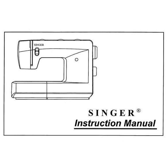 Instruction Manual, Singer 3810