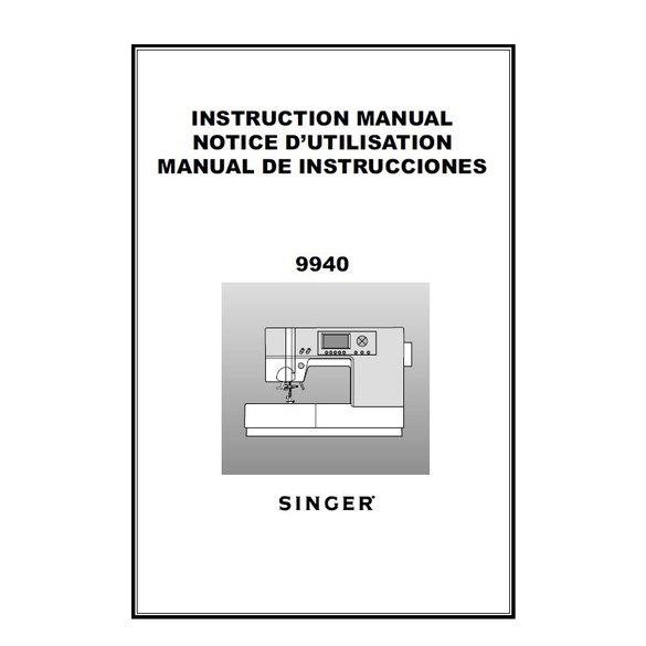 Instruction Manual, Singer 9940