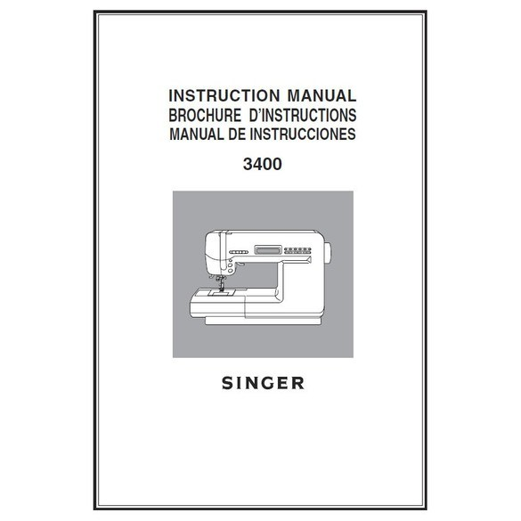 Instruction Manual, Singer XL-3400