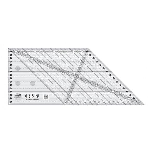 8in 45 Degree Diamond Dimensions Ruler, Creative Grids
