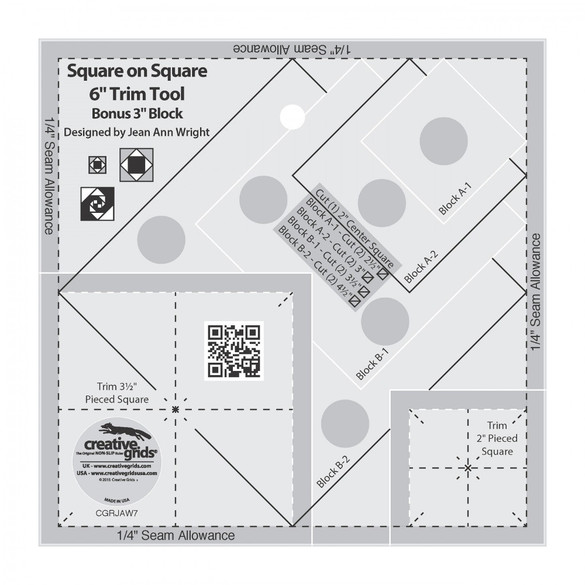 Square on Square 6in Trim Tool, Creative Grids