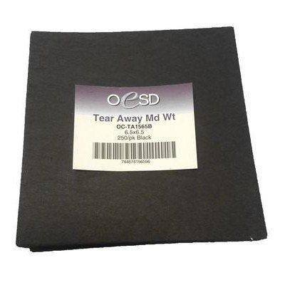 "Medium Weight, Tear-Away Sheets (250pk) 6.5""x 6.5"", Black"