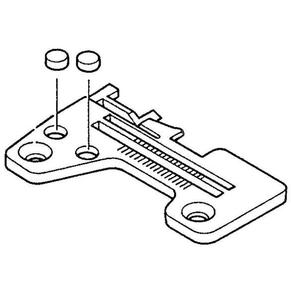 Throat Plate Assembly, Juki #R4200-H0D-DA0