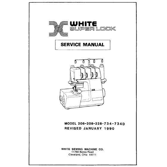 Service Manual, White 734