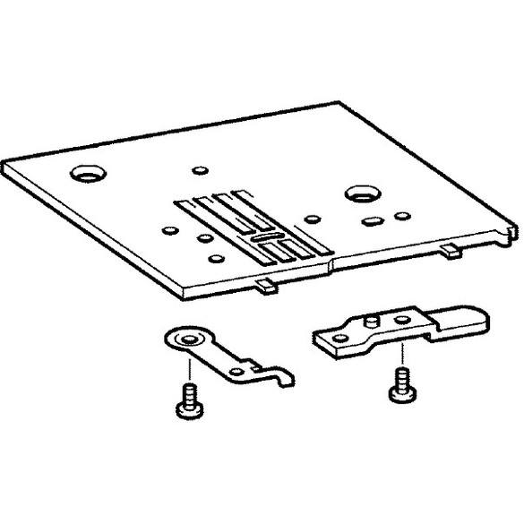 Needle Plate Assembly, Brother #XE6210201