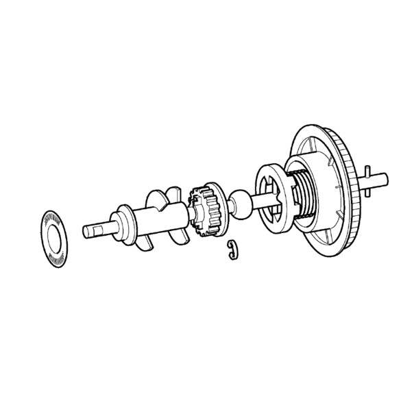 Upper Shaft Assembly,  Brother #XC5436021