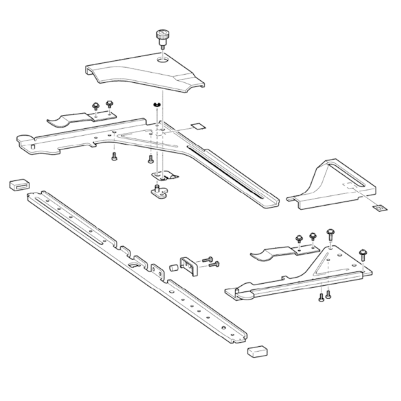 Tubular Round Arm B Supply Assembly, Brother #XE7376001