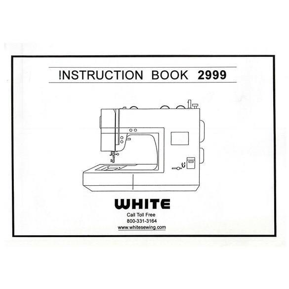 Instruction Manual, White 2999