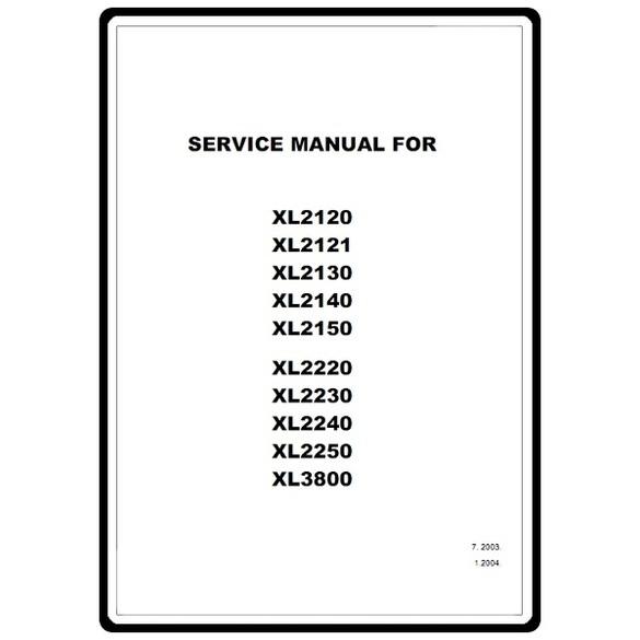 Service Manual, Brother XL2250