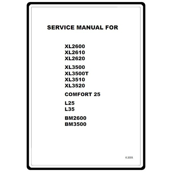 Service Manual, Brother XL2610