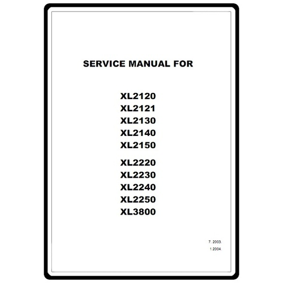 Service Manual, Brother XL3800