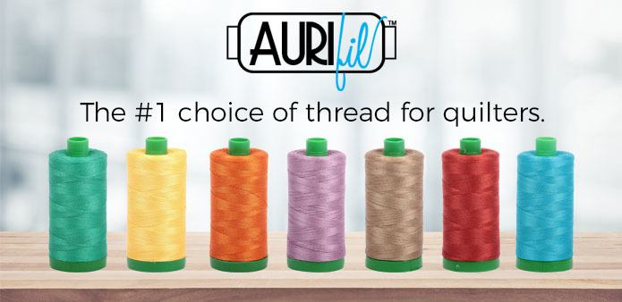 Aurifil Thread, the #1 choice of thread for quilters.