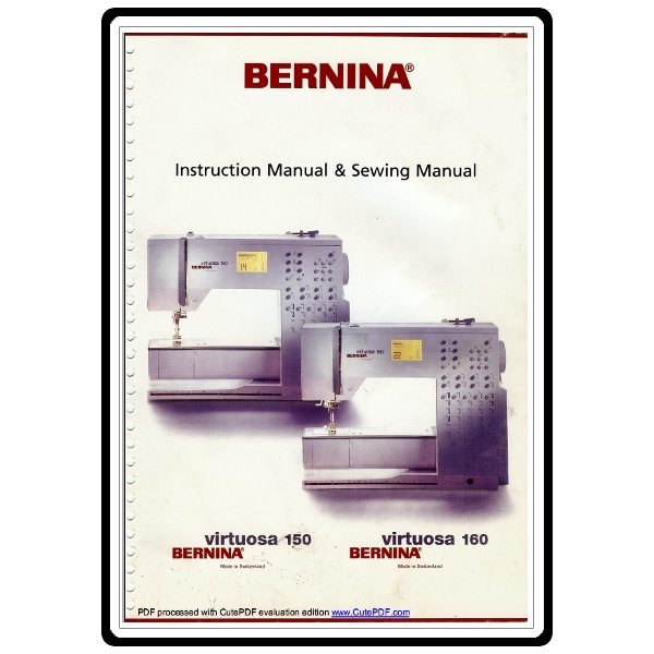 Instruction manual bernina virtuosa 160 sewing parts online fandeluxe Gallery