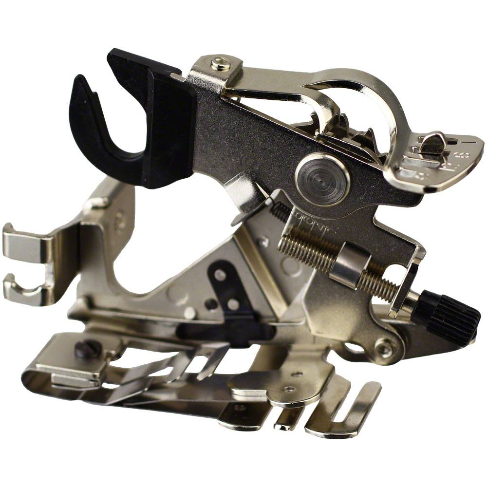 LNKA Ruffler Attachment Low Shank Foot for Janome Brother Singen Pfaff Rufler Sewing Machine # 55705 Pink Box
