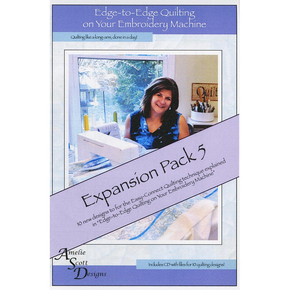 Edge-To-Edge Quilting On Your Embroidery Machine Expansion Pack 8 CD