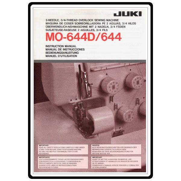 Instruction Manual Juki MO 644