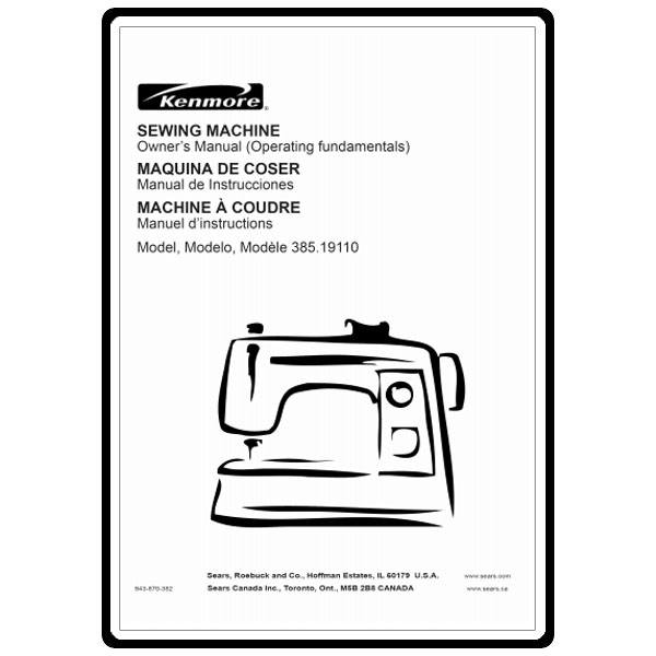 kenmore sewing machine manuals online
