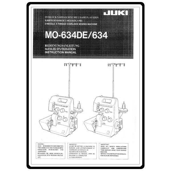 instruction manual juki mo 634de sewing parts online rh sewingpartsonline com User Webcast User Training
