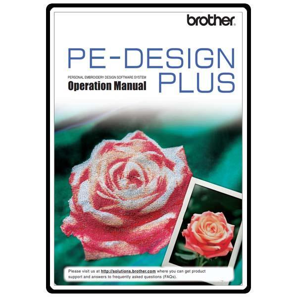 Brother pe-design next manuals.