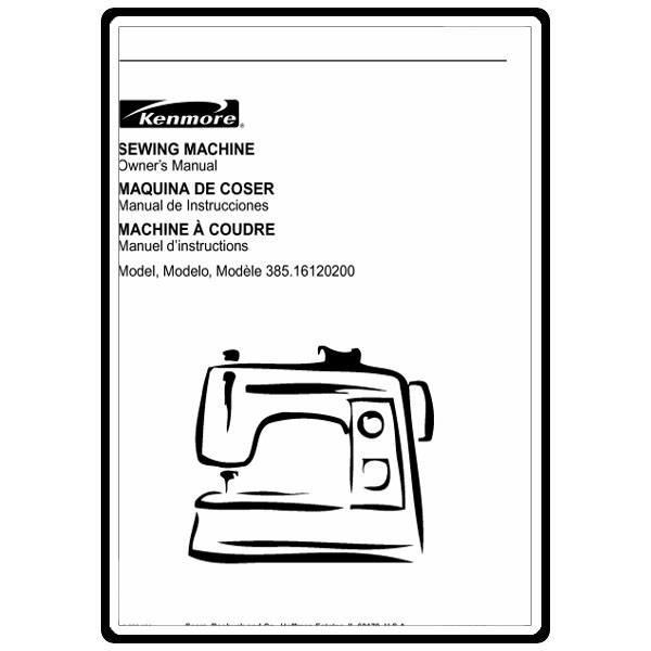 instruction manual kenmore 385 16120200 sewing parts online rh sewingpartsonline com Kenmore 385 Series Sewing Machine Kenmore Sewing Machine Model 385.15516000