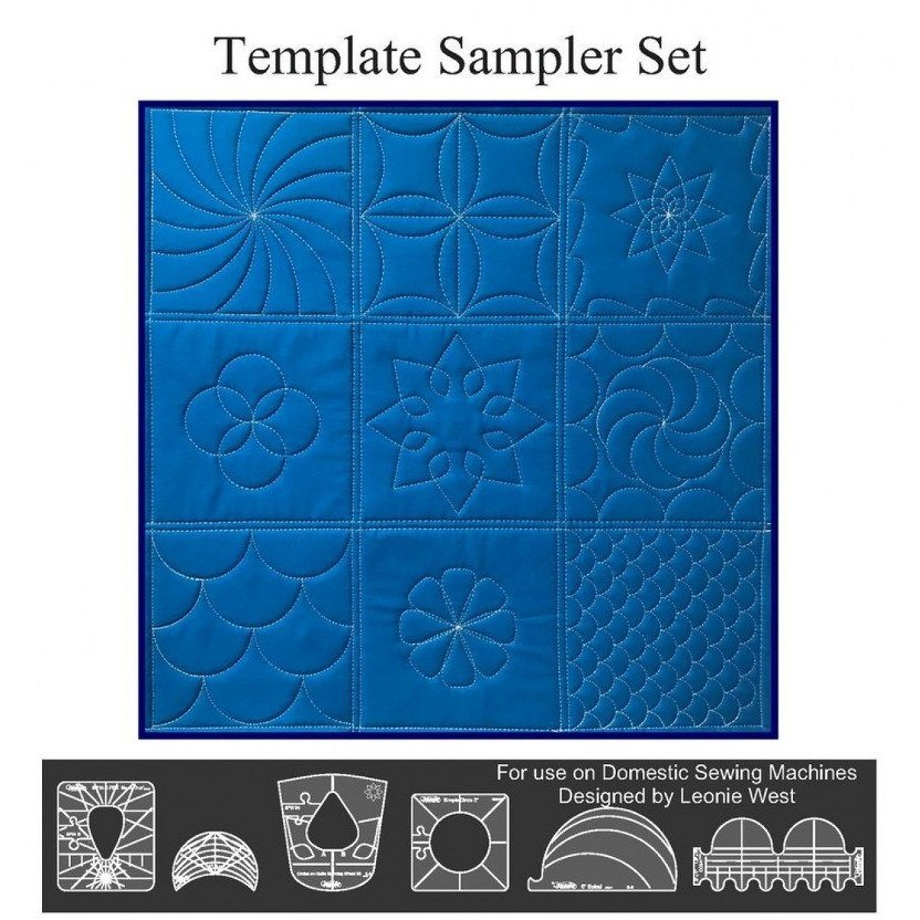 Low /& Medium Shank Sew Steady Quilting Template 6 Piece Template Set