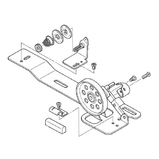 Bobbin Winder Assembly Juki D3201 555 Dao Sewing Parts Online