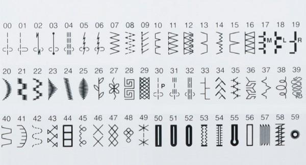 60 Built-in Stitches